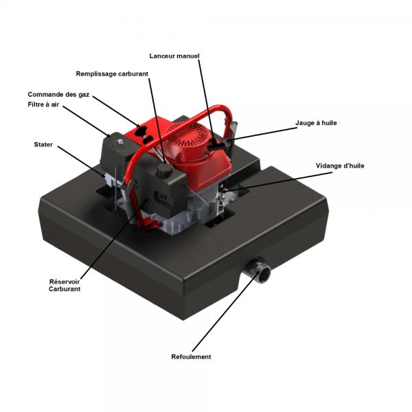 Descriptif détails pompe flottante