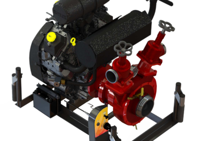 Portable fire pump with gasoline engine
