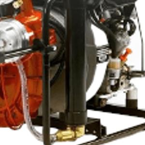 Heat engine fire pump frame