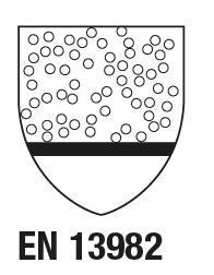 EN 13982-1 : 2004/A1 : 2011 Vêtements de protection à utiliser contre les particules solides