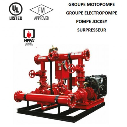 Présentation Groupes motopompes NFPA 20