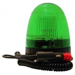 Feu tournant Vert 12W LED
