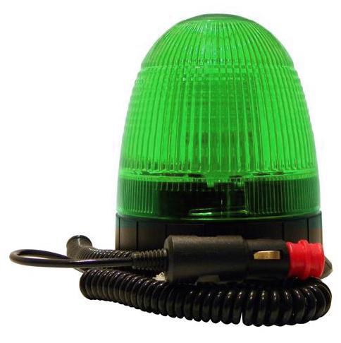gyrophare led vert en 12w pour v hicule secours. Black Bedroom Furniture Sets. Home Design Ideas