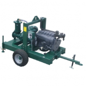 towable motor pump for irrigation