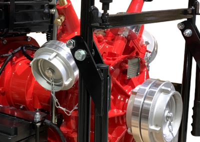 Connection for fire pump