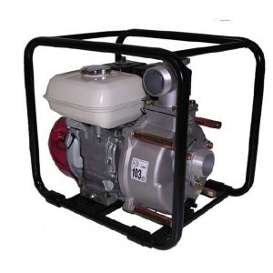 Petrol motor pump with cast iron frame