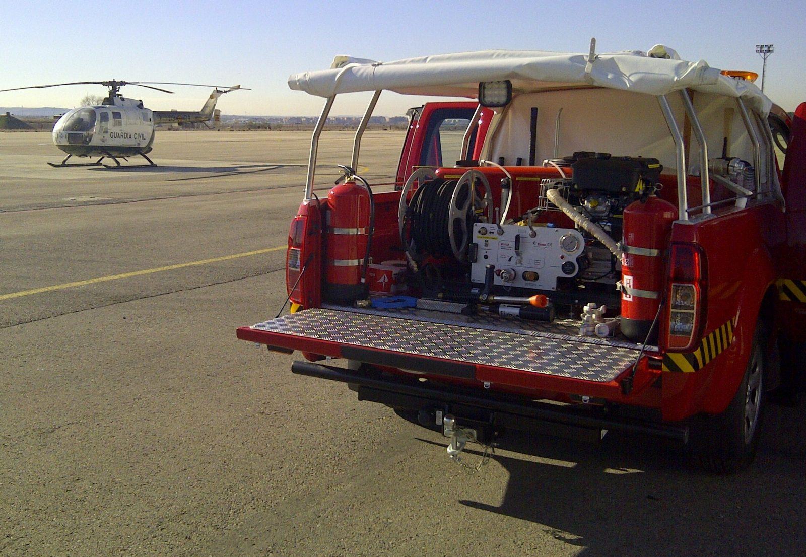 Kits d'extinction incendie avec motopompe Haute pression et cuve sur pick-up