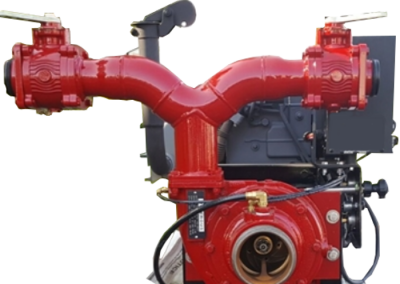 Diesel fire pump with control panel