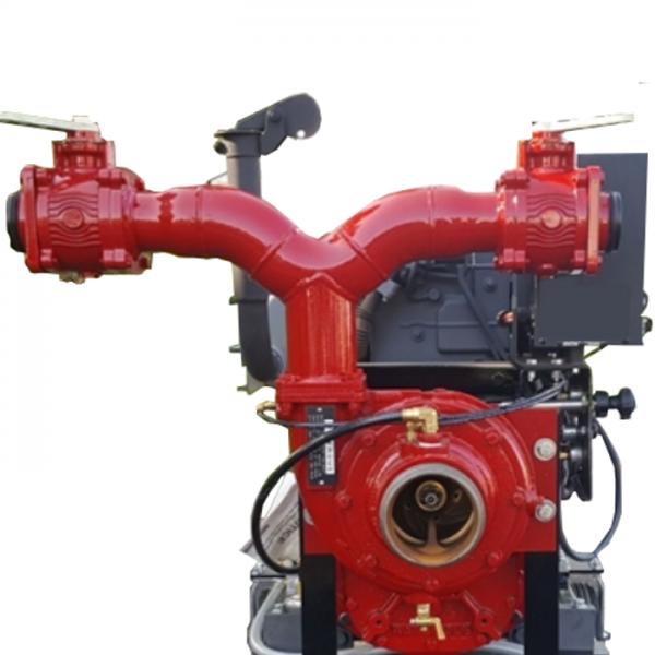 Pompe incendie diesel avec panneau de controle
