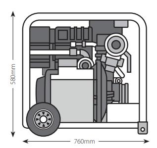 dimensions motopompe incendie diesel