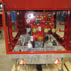 Motopompe incendie sur remorque