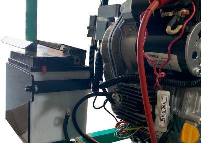 Battery installed on self-priming pump