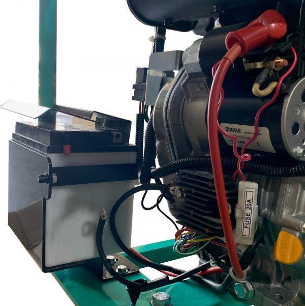 Batterie installée sur pompe auto-amorcante
