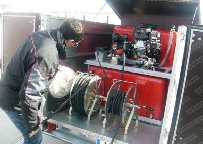 Kit haute pression avec deux dévidoirs