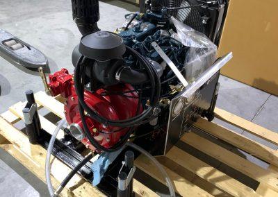Pompe diesel portable avec moteur KUBOTA + amorçage par gaz échappement