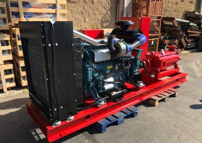 Groupe motopompe NFPA20 avec pompe horizontale