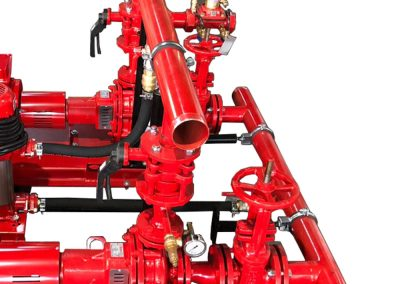 Electric pump on fixed frame