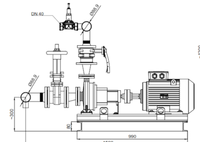 Pump set manufactured according to NFPA20 standard