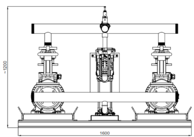 Dimensions of the fire pump set
