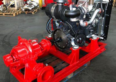 Groupe motopompe sur châssis fixe NFPA20