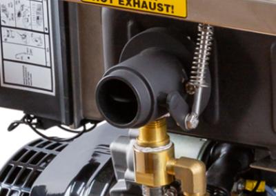 Seawater resistant diesel motor pump