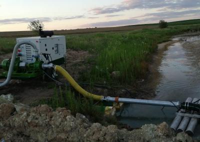 Groupe remorquable d'irrigation thermique intensif
