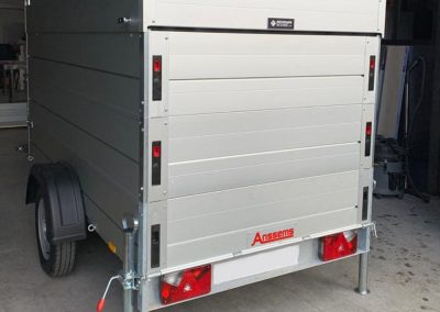 Fire trailer on two axles