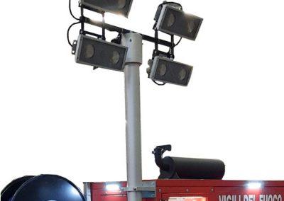 Telescopic mast intervention trailer