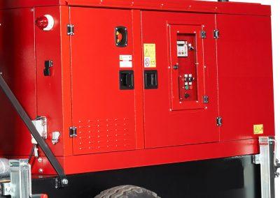 Remorque intervention pompiers caisson