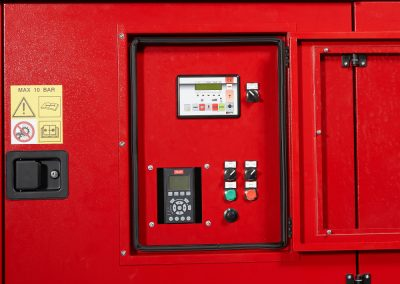 Firefighters intervention trailer control panel