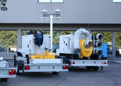 EUROMAST irrigation trailer