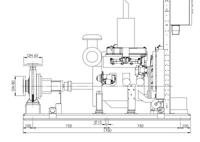 Dimensions groupe motopompe selon la norme NFPA 20