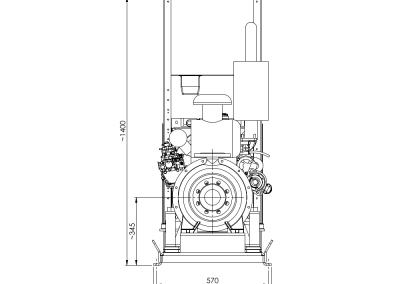 Groupe motopompe selon la norme NFPA 20