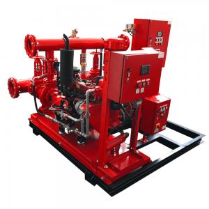 Fire-fighting pump set with diesel engine